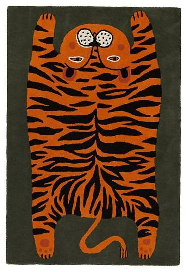 Don't feed the rug #tiger #rug
