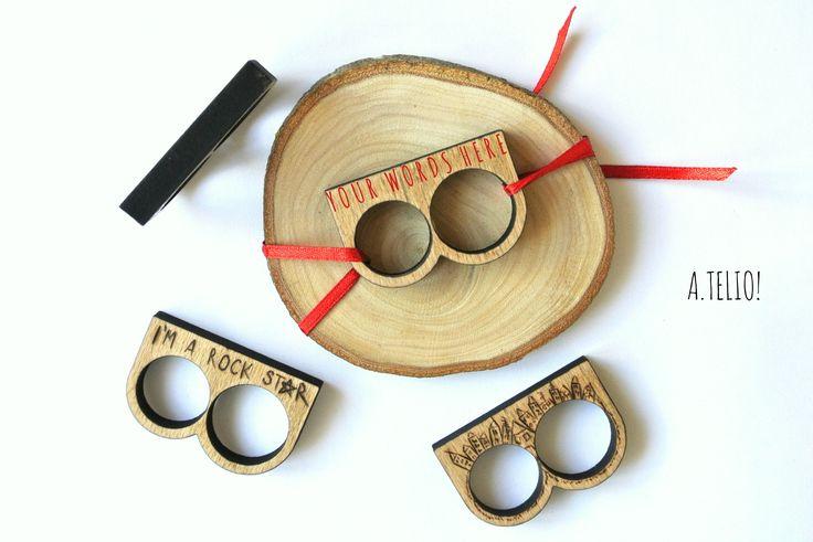 WOODEN DOUBLE RING A.telio! #atelio #atelioshop #egst #etsy #ring #wooden #doublering #woodenring