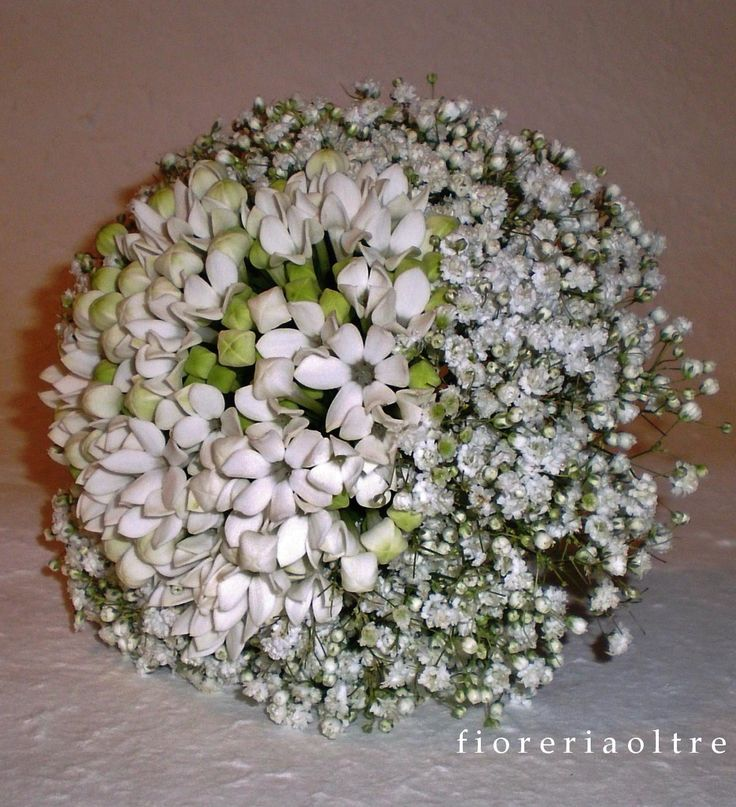 Fioreria Oltre/ Bridal bouquet/ Bouvardia and baby's breath