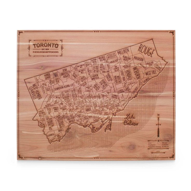 North America Map In 1750%0A Toronto Wall Map