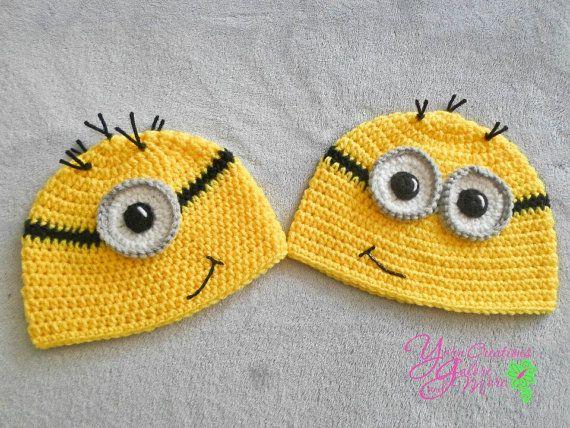 Minion Crochet Hat No EarflapsYellow by YarnCreationsGalore