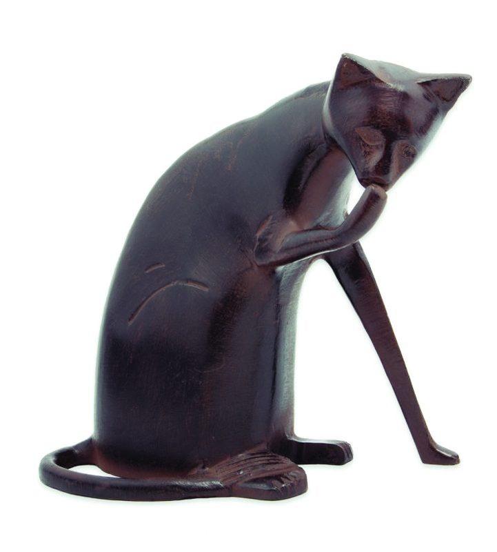 Coy Cleaning Cat Garden Sculpture Statue