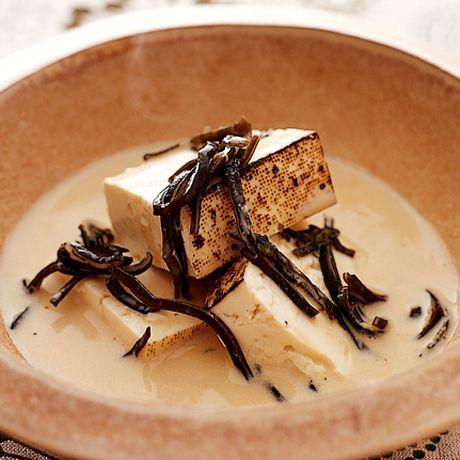 豆腐の塩昆布豆乳煮   井澤由美子さんの小鉢の料理レシピ   プロの簡単料理レシピはレタスクラブネット