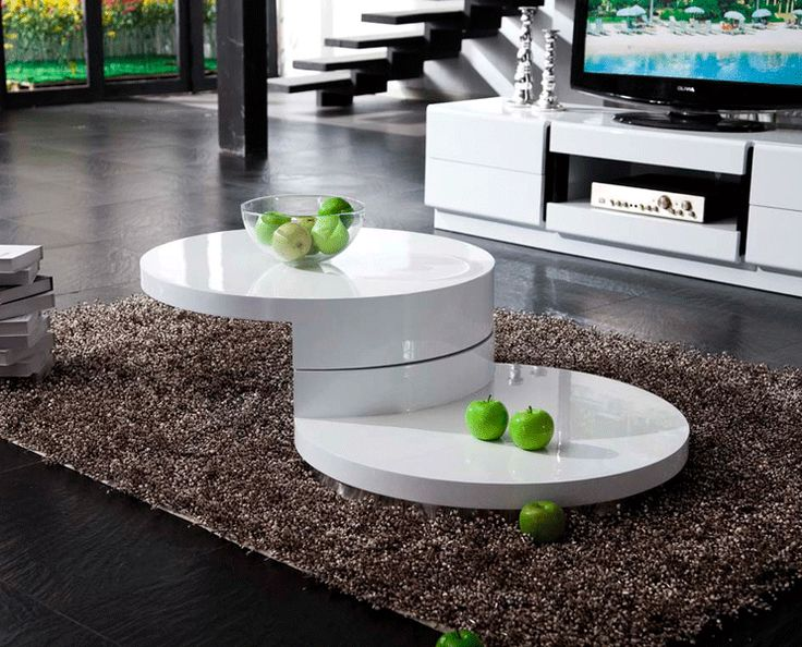 contempo round white coffee table in high gloss finish 399 this round coffee table is