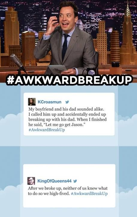 The Tonight Show starring Jimmy Fallon - Hashtags Awkward Breakups