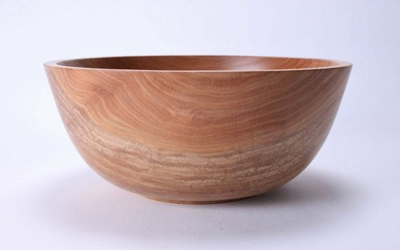 Sycamore Wooden Salad Bowl 1480 by sanderswoodworking on Etsy