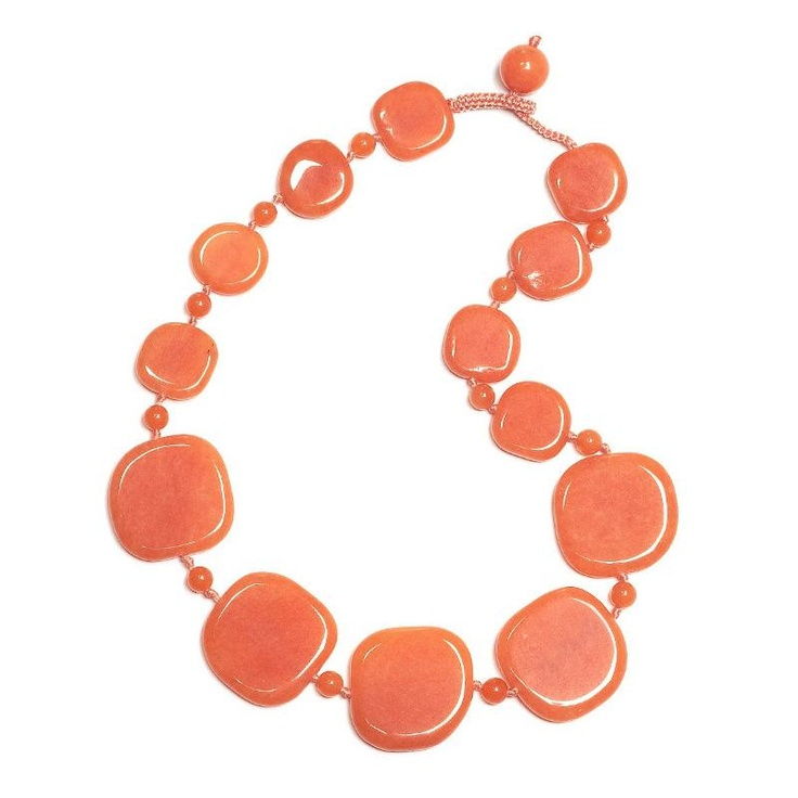 Lola Rose Jane Apricot Quartzite Necklace at aquaruby.com
