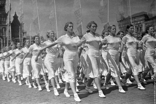 Ivan Shagin, ca. 1935, Sports Parade on the Red Square, Moscow #russia #1930s