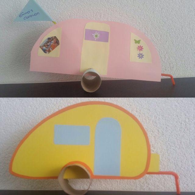 Caravan knutselen van papier.