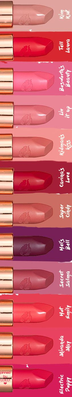 Charlotte Tilbury Hot Lips Assorted Lipstick Colors | LOLO❤︎