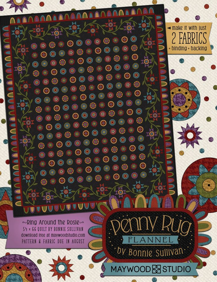 Penny Rug Flannel in Fabshop News, June