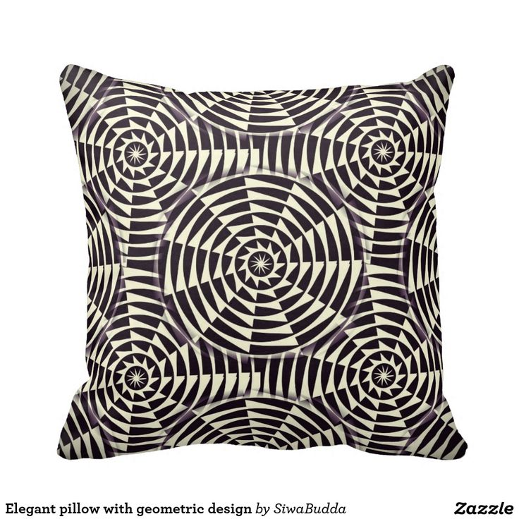 Elegant pillow with geometric design