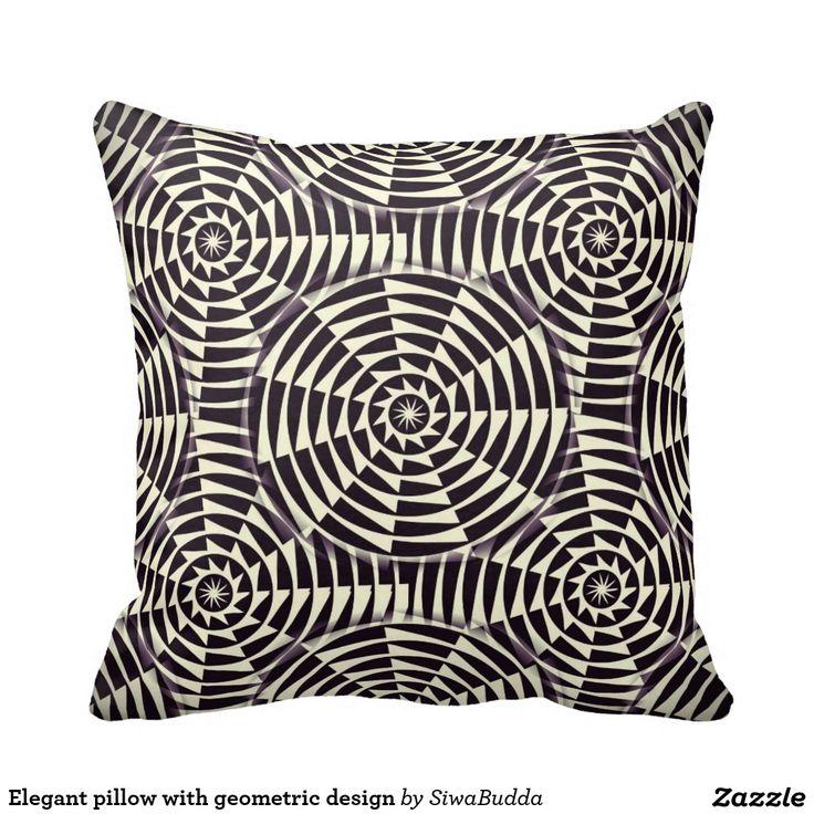 Elegant pillow with geometric design