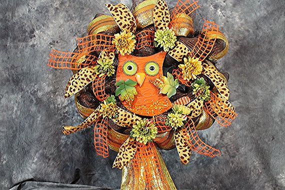 Deco Mesh Fall Wreath Deco Mesh Fall Owl by SouthernCharmFlorals, $60.00