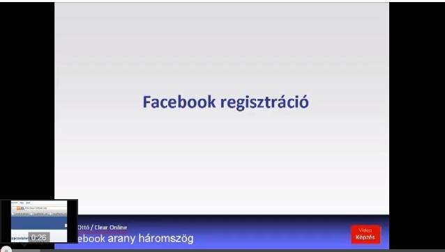 Facebook kezdőknek - regisztráció
