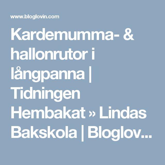 Kardemumma- & hallonrutor i långpanna | Tidningen Hembakat » Lindas Bakskola | Bloglovin'