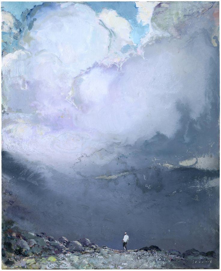 Tuomo Saali, Hiker, oil on canvas, 78x65 cm, 2016
