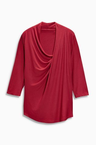 Buy 3/4 Sleeve Drape Top from the Next UK online shop