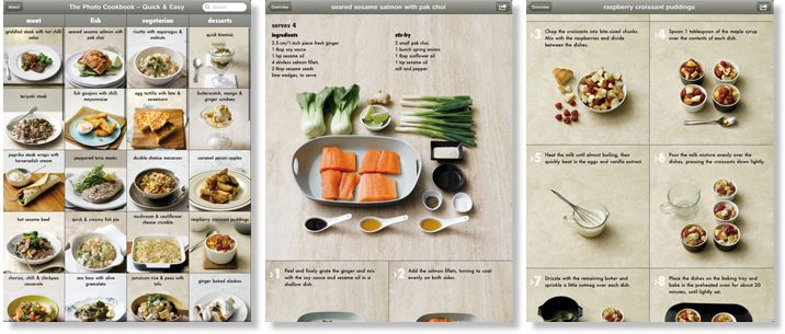 The Photo Cookbook - Quick & Easy - for iPad, iPhone and iPod touch