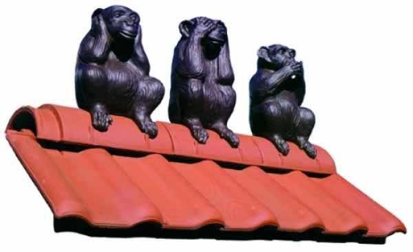 Украшение для крыши «Три обезьяны». Интернет-магазин «Colordach», арт. 80888