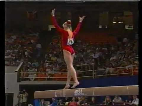 Beautiful floor routine by Shannon Miller, wonderful form, graceful dance, and crisp tumbling!!!  US Gymnastics Olympic Trials 1996