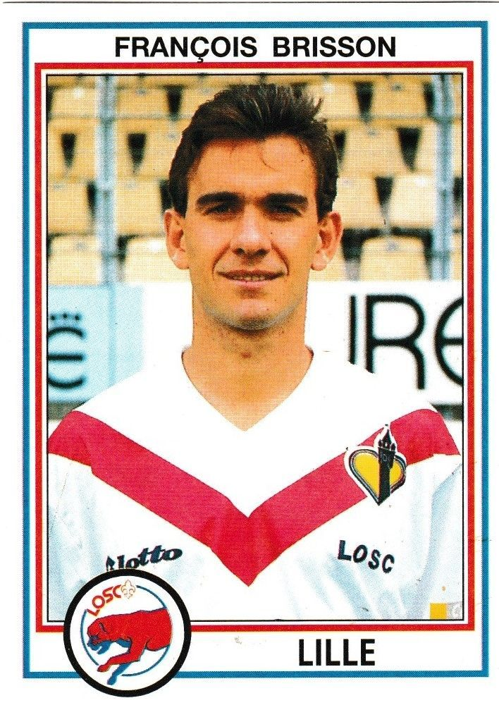 N°84 - Stickers Image Panini - Foot 93 - Francois Brisson - Lille - ( 1993 )