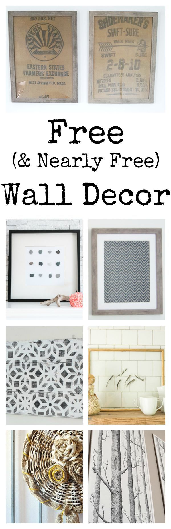 Free Wall Decor!!! These ideas are incredible!