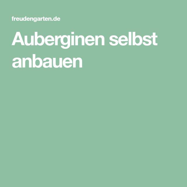Pin Von Kathrin Wagner Auf Pflanzen: Auberginen Selbst Anbauen