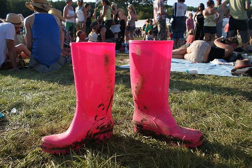 Sorrell's pink wellies