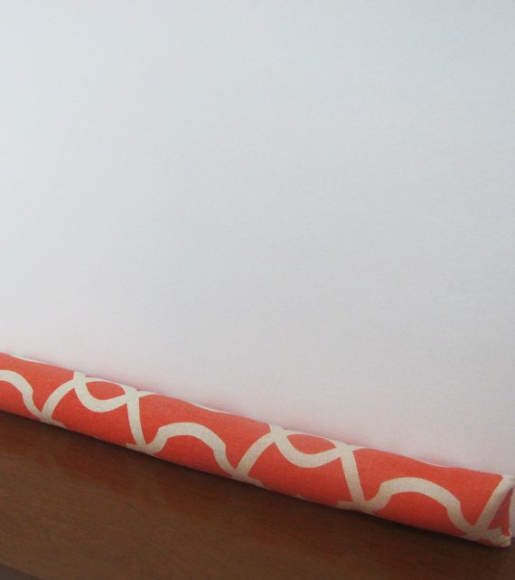 Orange Door Draft Stopper. Geometric Draft by KikoyChic on Etsy