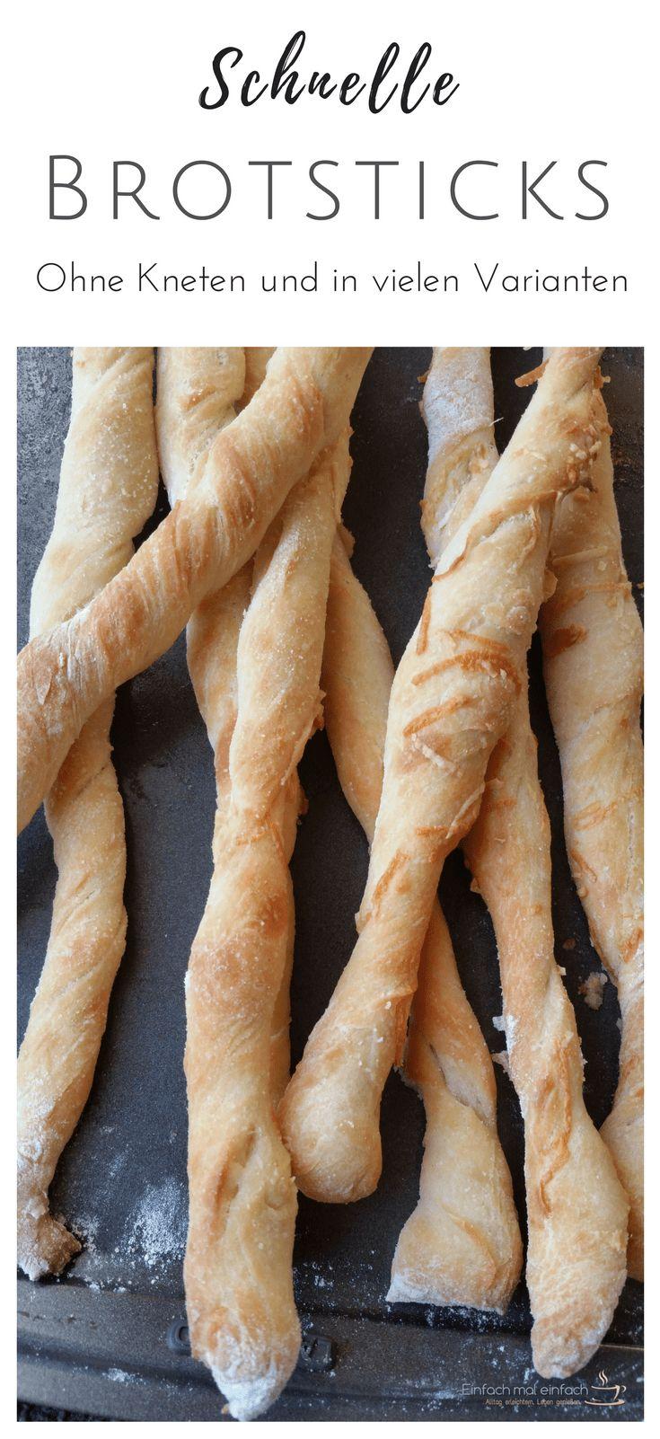 Schnelle Brotsticks - Einfach mal einfach Brotsticks sind das perfekte Fingerfood für das Silvester Essen und auf jeder Party. Kinder lieben sie, weil sie handlich und lecker sind - und Hobbyköche, weil sie vielseitig, schnell und einfach zubereitet sind. Dieses Rezept für gesunde Brotstangen kannst Du unkompliziert vorbereiten und die Sticks mit Parmesan, als Pizzastangen, mit Gewürzen oder Kräutern, Sesam und sogar süß mit Zimt und Zucker kreieren! #fingerfood #party