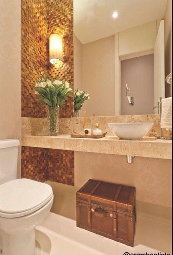 17 melhores ideias sobre Banheiro Marrom no Pinterest  Decoração de banheiro -> Cuba Banheiro Marrom