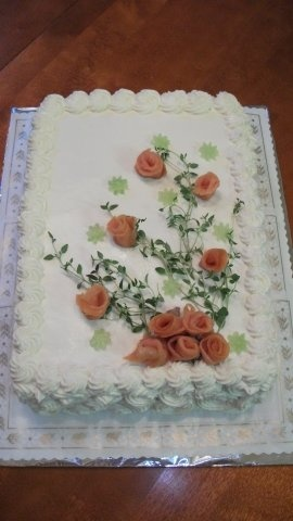 Beautiful Finnish 'sandwich cake' Ideia pra decoração de bolo salgado
