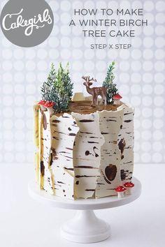 """Pastel navideño """"corteza de árbol"""""""
