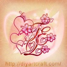 TEQ: Love + hearts + hibiscus #tattoo
