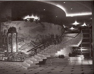"""The Fontainebleau Hotel on Miami Beach was famous for its """"Staircase to Nowhere"""": Ladies would take the elevator up to the coatroom, and then make a grand entrance into the lobby"""