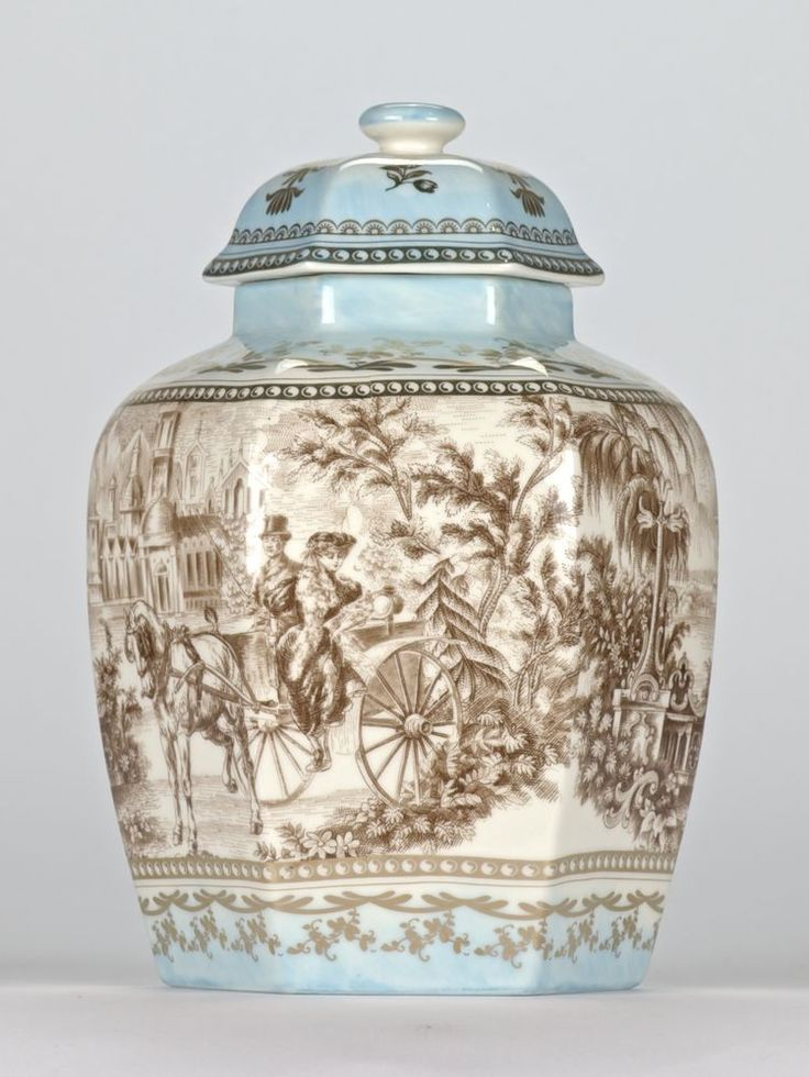 "Antique style Chinoiserie Chinese Temple Jar Ornate Edwardian Mark 21.5cm/8.5"" #Chinoiserie"