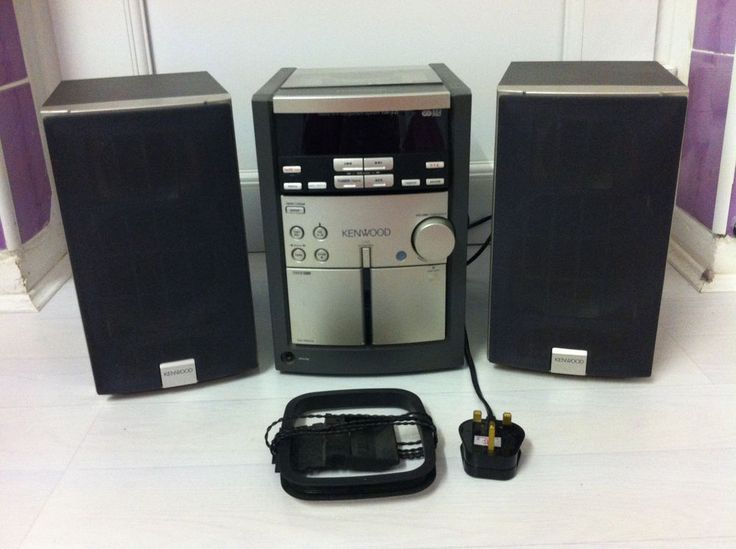 Kenwood Micro Hifi Component System. 2 way speakers system, CD, Tuner, Cass Deck