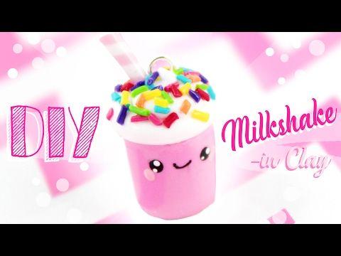 ♡ DIY MILKSHAKE CHARM - in Clay! ♡ | Kawaii Friday - YouTube