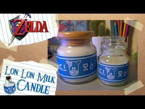 This series of videos will teach you how to make your own Props, Items and Memorabilia from your favourite games. This DIY tutorial will show you how to make Lon Lon Milk candles from The Legend of Zelda: Ocarina of Time. These cute candles were recycled from old boring candles and coffee jars. You can even add your favourite scents aswell.