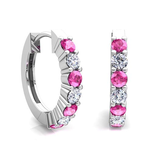 7-stone-pink-sapphire-and-diamond-hoop-earrings-in-18k-yellow-or-white-gold-2.jpg (500×500)