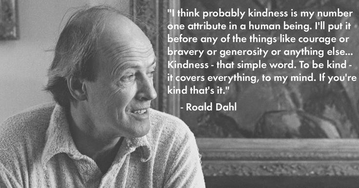 Roald Dahl on kindness
