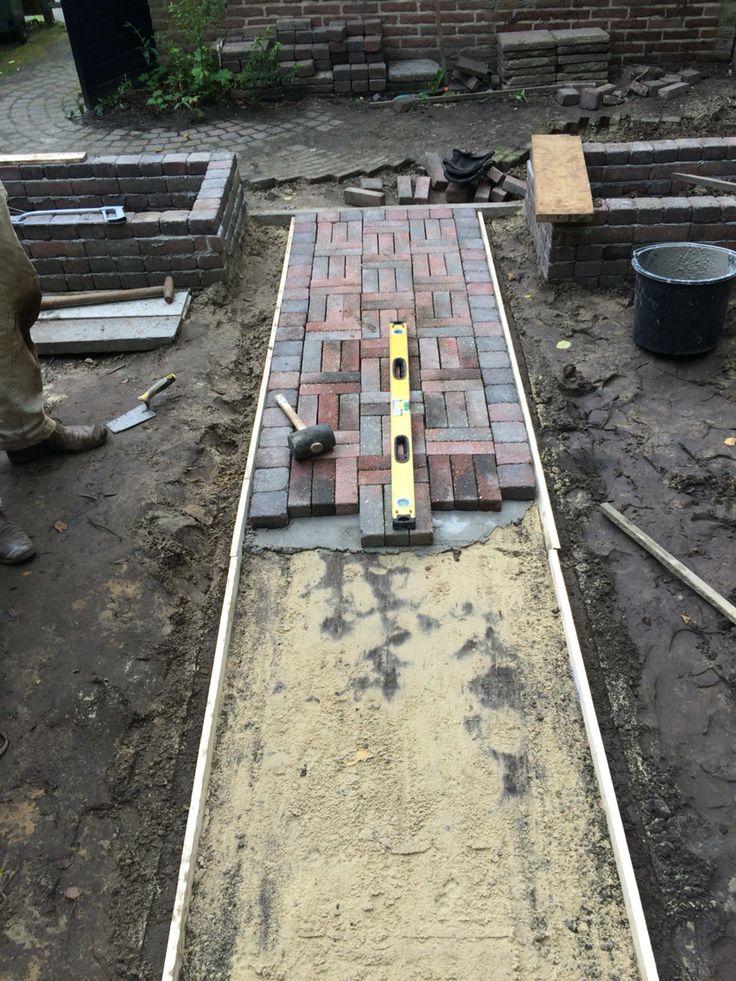 Uitvlakken en laagje cement