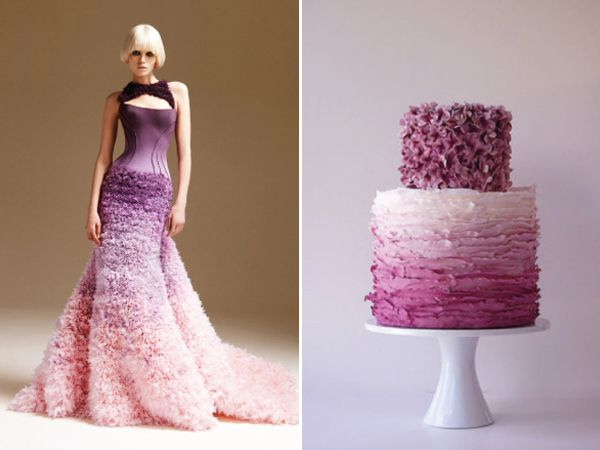 31 Wedding Cakes Inspired by the Bridal Dresses | http://www.deerpearlflowers.com/31-wedding-cakes-inspired-by-the-bridal-dresses/