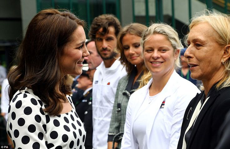 Tennis enthusiast Kate was no doubt thrilled to meet Martina who won 18 Grand Slam singles titles in her career