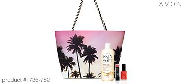 Get your limited-edition Avon Summer Beauty Set for JUST $15 w/ ANY $40 purchase (a $40 value!)! #AvonRep