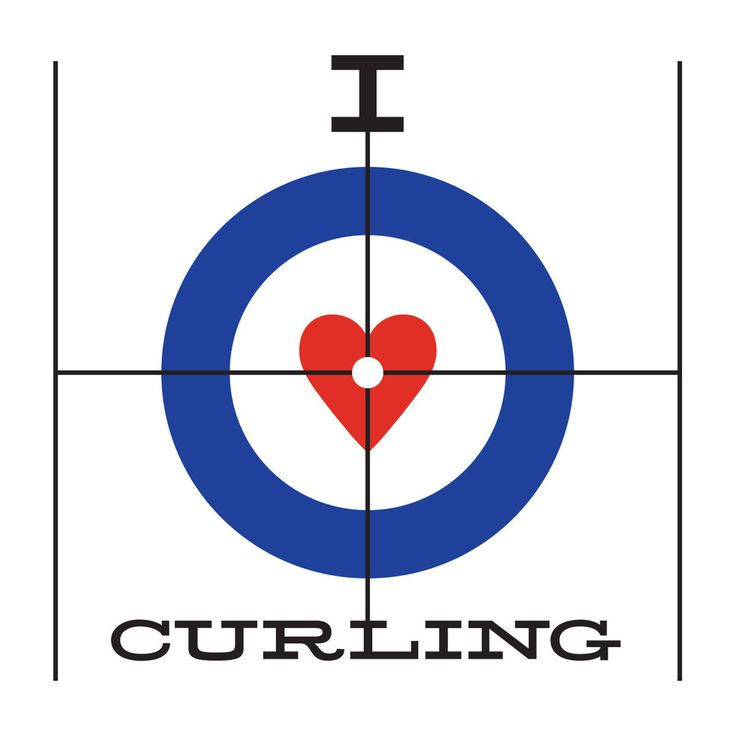 I Heart Curling T-Shirt – Hit The Broom T-Shirt Shop