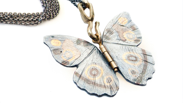 Butterfly Pendant  By Adam Shulman and goldsmith Heidi Nahser Fink's jewelry line.