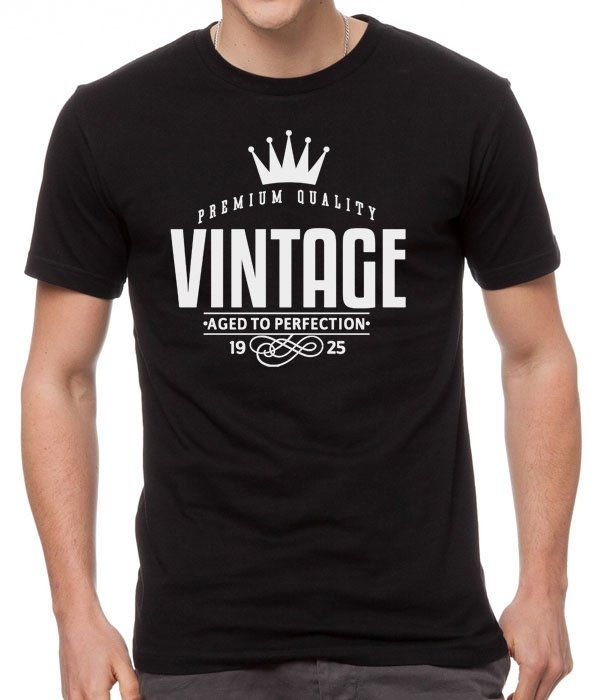 VINTAGE,+Aged+to+Perfection+Black+Men+T-Shirt