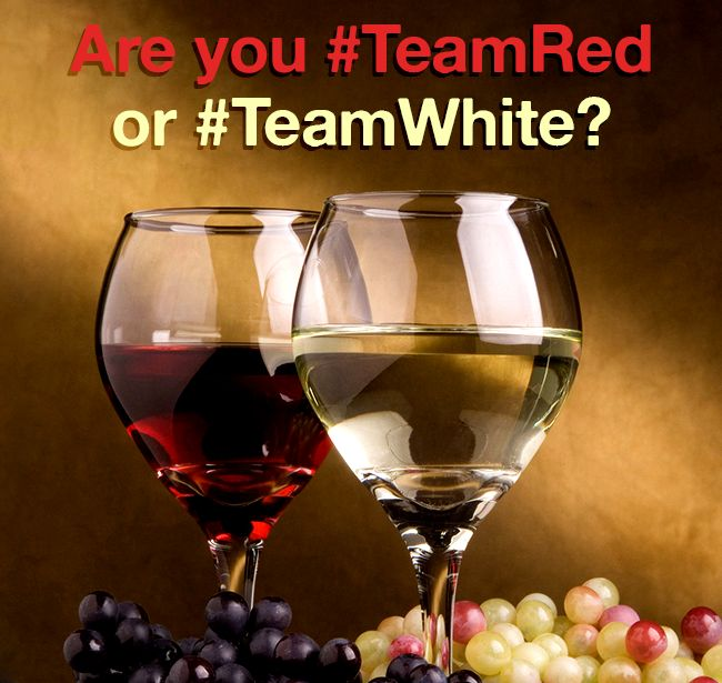 Red wine or white wine -- which do you prefer?  #NationalDrinkWineDay #TeamRed #TeamWhite
